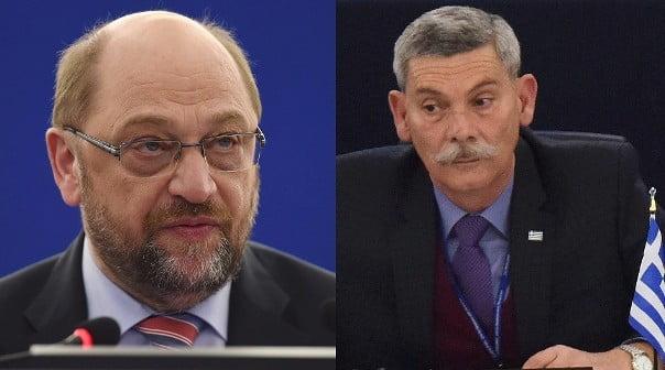 GÖRÖG VÁLASZTÁSOK: Családi vállalkozás lehet az Arany Hajnal, amely elvesztette választói felét GÖRÖG VÁLASZTÁSOK: Családi vállalkozás lehet az Arany Hajnal, amely elvesztette választói felét Martin Schulz Eleftherios Synadinos