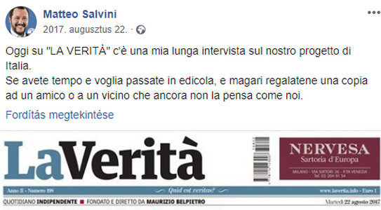 boki 13: merkel buktatta meg gruevszkit, salvini buktatja meg zaevet? BOKI 13: Merkel buktatta meg Gruevszkit, Salvini buktatja meg Zaevet? matteo salvini facebook