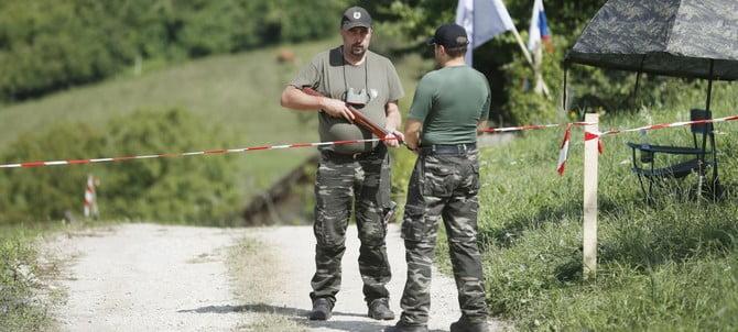 stÁjer ŐrsÉg: szlovén migránsellenes tábor a horvát határ közelében STÁJER ŐRSÉG: Szlovén migránsellenes tábor a horvát határ közelében stajerska vavra garda