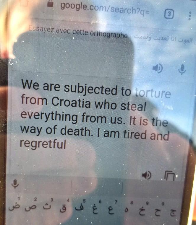 helyszÍni tudÓsÍtÁs: a migránsok a horvát rendőrök brutalitása miatt fordulnak ismét magyarország felé(?) HELYSZÍNI TUDÓSÍTÁS: A migránsok a horvát rendőrök brutalitása miatt fordulnak ismét Magyarország felé(?) arab forditas vilagos