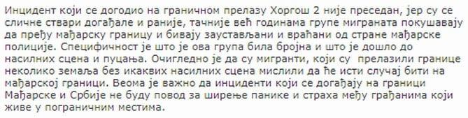 exkluzÍv: a szerbiai menekültügyi hivatal reméli, hogy a röszkeihez hasonló események nem váltanak ki pánikot a lakosság körében EXKLUZÍV: A szerbiai menekültügyi hivatal reméli, hogy a röszkeihez hasonló események nem váltanak ki pánikot a lakosság körében gerginov nyilatkozat