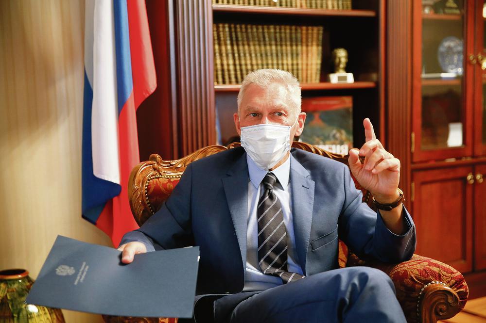 OROSZ NAGYKÖVET: Akár Szerbiában is gyárthatják az orosz vakcinát OROSZ NAGYKÖVET: Akár Szerbiában is gyárthatják az orosz vakcinát 2307151 0401 ruski ambasador marina lopicic 3 ls