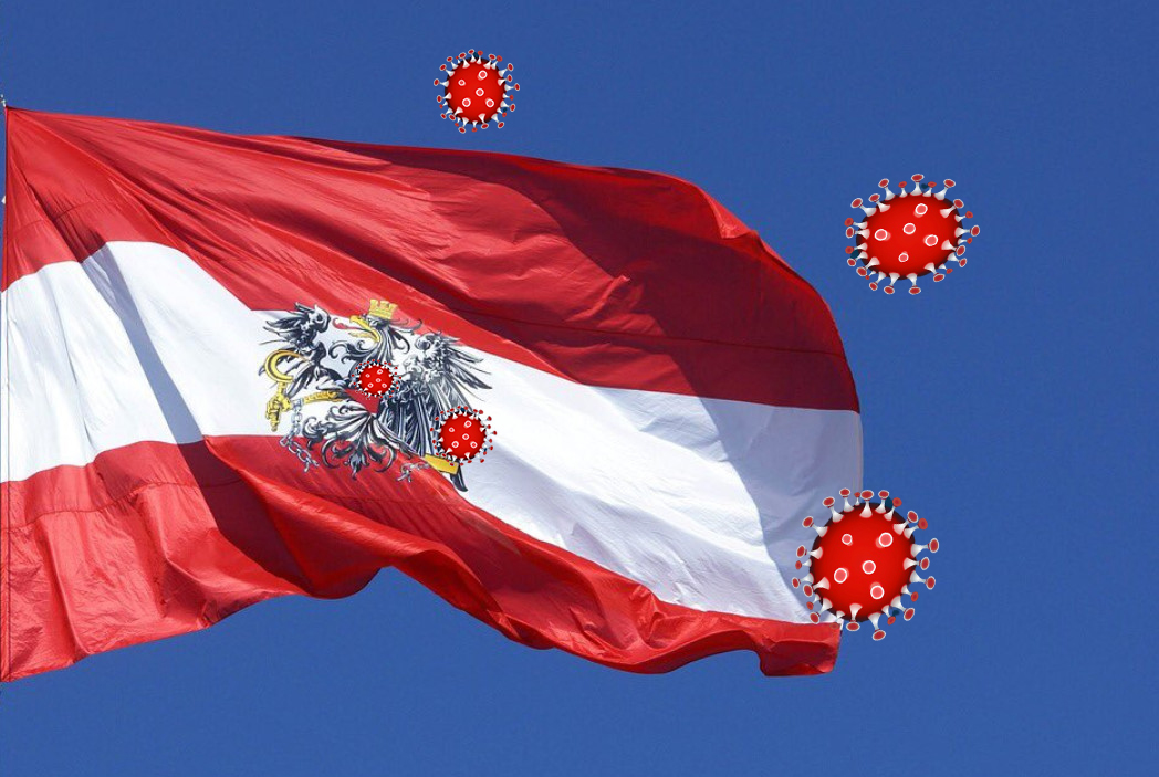 HÉTFŐTŐL SZIGORÍTANAK: Ausztriában az új fertőzöttek egyharmada nyaralásból tér haza, ezért kötelező lesz a vírusteszt HÉTFŐTŐL SZIGORÍTANAK: Ausztriában az új fertőzöttek egyharmada nyaralásból tér haza, ezért kötelező lesz a vírusteszt virus austria flag