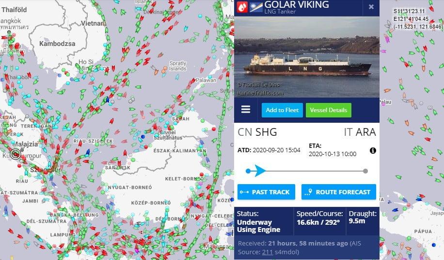 ÚTON VAN A HAJÓ: Már Malajzia partjainál van az a hajó, amely a krki LNG-terminál alapegysége lesz ÚTON VAN A HAJÓ: Már Malajzia partjainál van az a hajó, amely a krki LNG-terminál alapegysége lesz malajzia lng