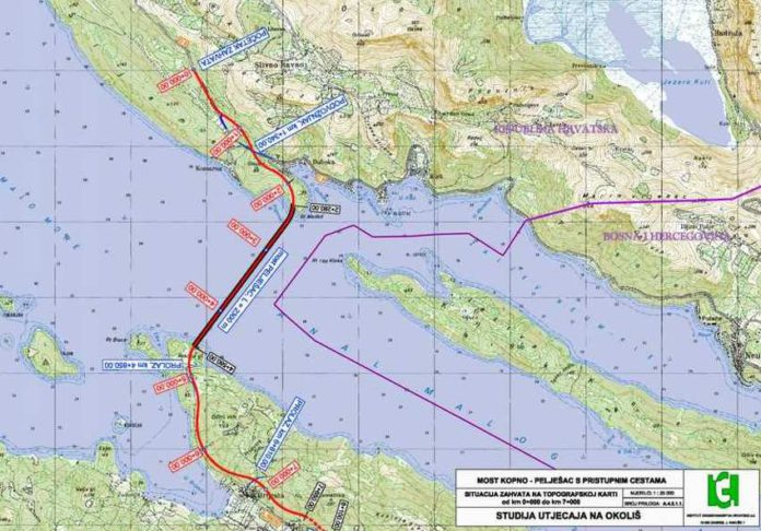 horvát KÉT ÉVTIZED UTÁN: Hamarosan megépül a pelješaci híd, avagy mit adtak nekünk a rómaiak? peljesac neum bih map