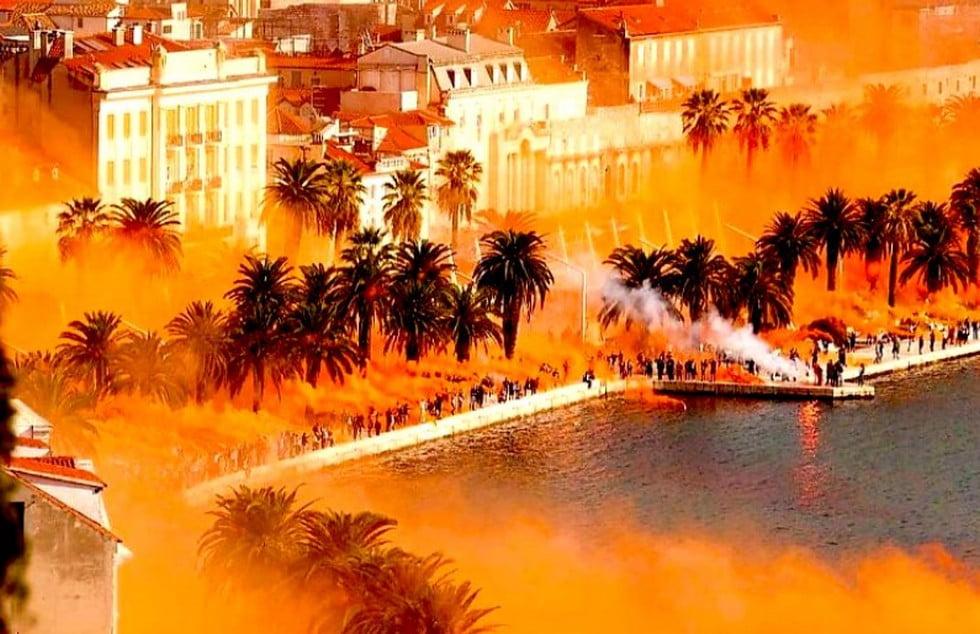 SPLITI FIESZTA: Felgyújtották az eget, a horvát belügyminiszter viszont összevonta a szemöldökét SPLITI FIESZTA: Felgyújtották az eget, a horvát belügyminiszter viszont összevonta a szemöldökét split sarga