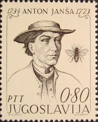 KAPTÁR: Szlovéniában a méhek csillapítják a stresszt, csípésük viszont egyelőre nem helyettesíti a vakcinát Anton Jansa 1973 Yugoslavia stamp