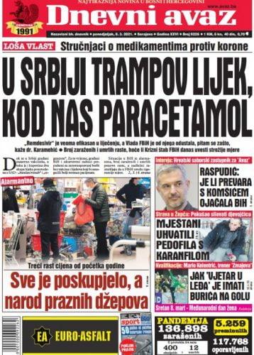[object object] SÓHAJ: Szerbia kapott Trump gyógyszeréből, Boszniának maradt a Paracetamol cover big 358x500
