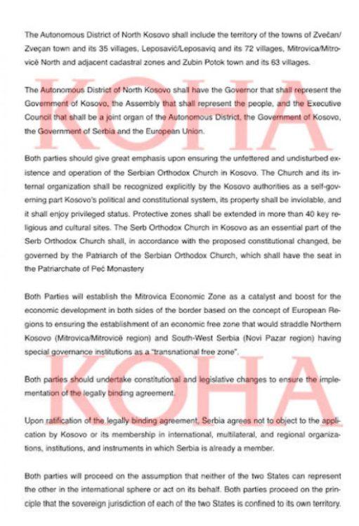 ÚJABB NON-PAPER: Ezúttal csak Koszovóról, avagy a területi és vallási autonómia koha 3 511x748