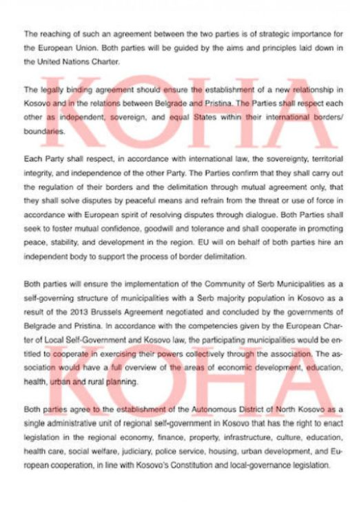 ÚJABB NON-PAPER: Ezúttal csak Koszovóról, avagy a területi és vallási autonómia koha1 508x744