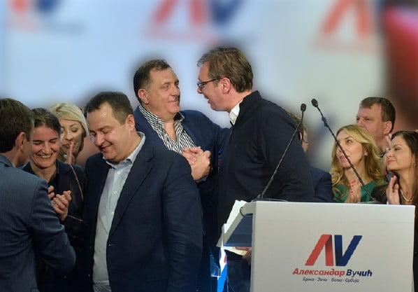 vučić MEGVÁLTOZTUNK? A kétarcú Vučić – európer sötét múlttal és foltos jelennel Vucic Dodik  pobjeda12 removebg preview