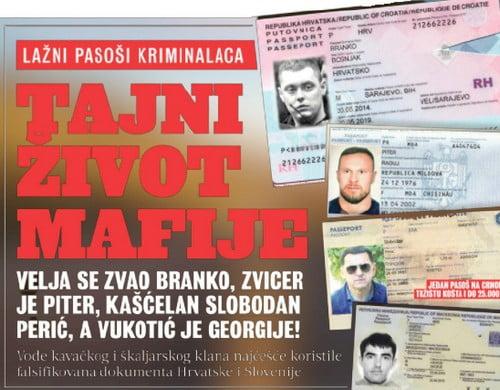 DÉLSZLÁV TESTVÉRISÉG: Horvát útlevelekkel utaznak a szerb maffiózók horvát DÉLSZLÁV TESTVÉRISÉG: Horvát útlevelekkel utaznak a szerb maffiózók tajni zivot