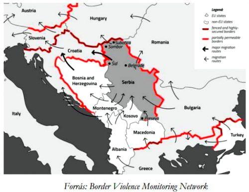 TÜRELMETLEN MIGRÁNSOK: Migrációkutató Intézet szerint erős migrációs nyomás alatt Magyarország déli határszakasza migránsok TÜRELMETLEN MIGRÁNSOK: A Migrációkutató Intézet szerint erős migrációs nyomás alatt Magyarország déli határszakasza hatarok 500x385